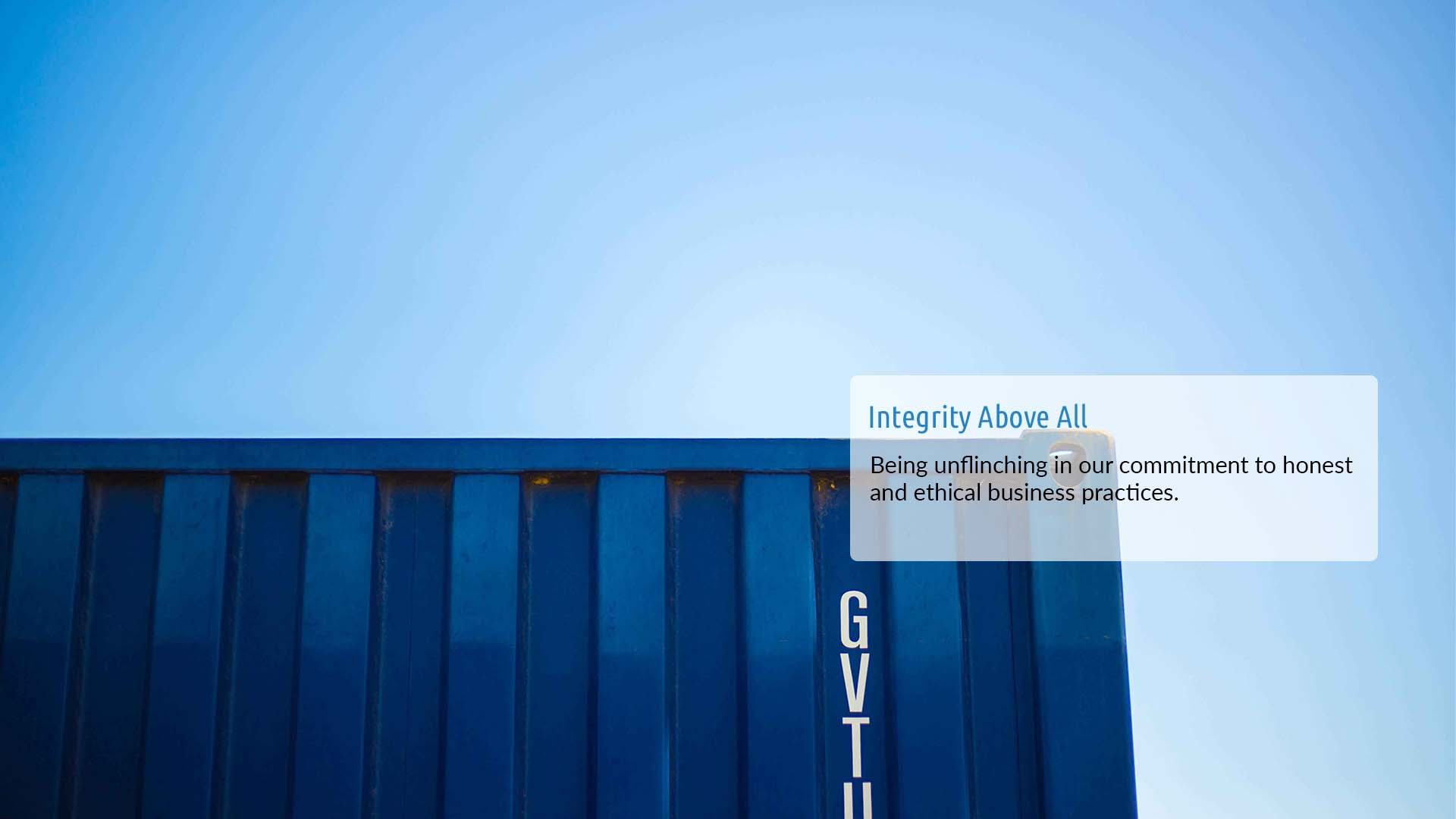 Integrity Above All